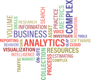 Data analytics word cloud